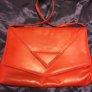 Rad 1980s red purse w/ snap on decorations